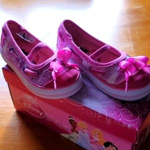 NWT Disney Princess Pink Baby Girl Shoes - Size 7